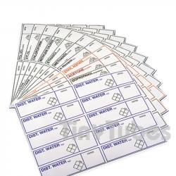 Etichette autoadesive con testo identificativo